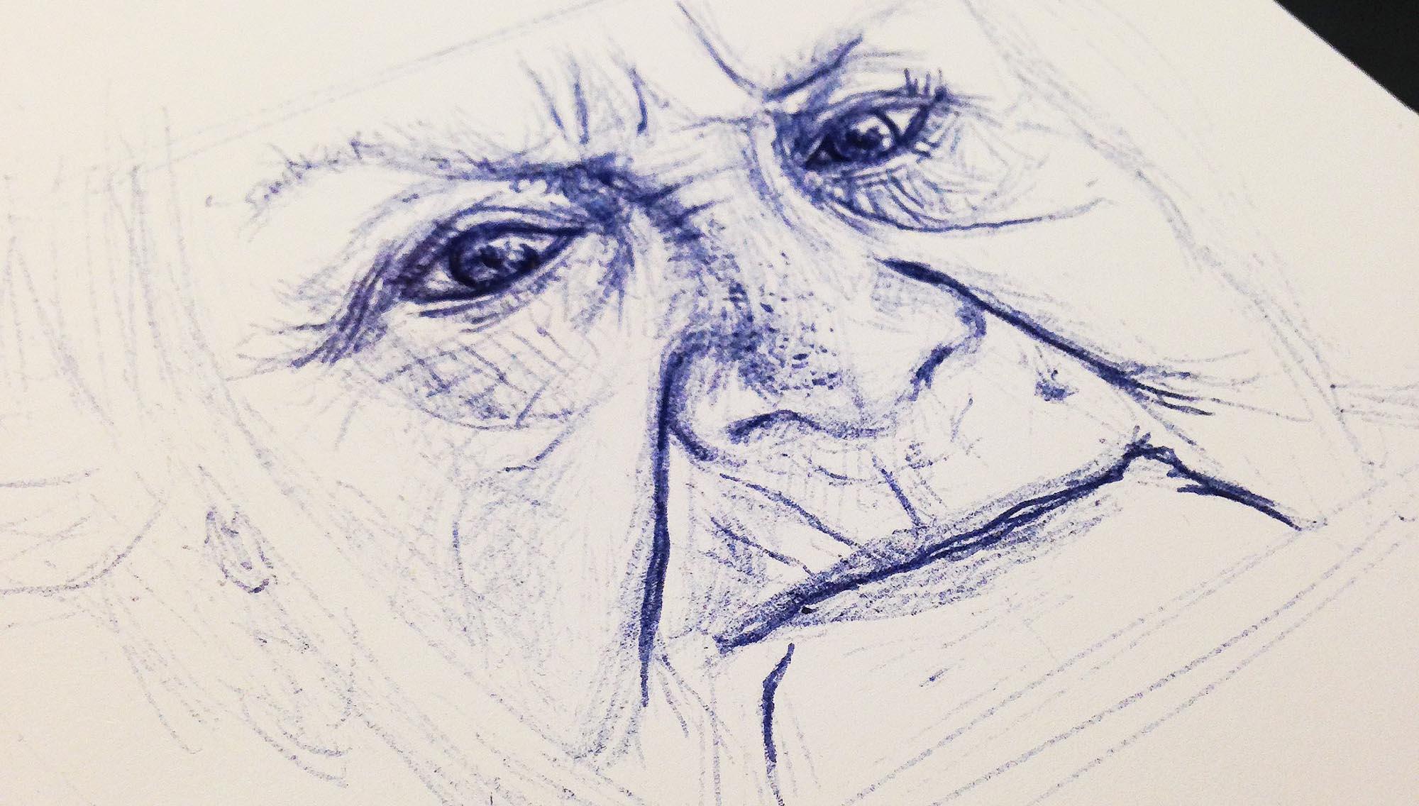 grandma-ballpoint-sketch